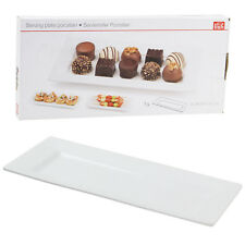 White Porcelain Rectangular Serving Plate Dish Side Dishes Tray Kitchen Platter