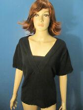 plus size 3X black stretchy knit top blouse by SPENSER JEREMY