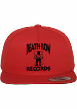Death Row Records Snapback Hat Adjustable Baseball Cap New - Red w  Black 3b075fc3ea07