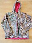 SCHMIDT workwear Winter camo soft shell insulated jacket w/ hood womens size Lg.