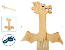 Piratenschwert Drachenschwert HOLZ Ritterschwert Degen Schwert 60 cm