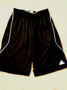 New Black Adidas Basketball Shorts with White stripe