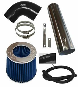 BLACK BLUE AirX Racing long Air Intake Kit For 97-04 Jeep Cherokee Grand 4.0L I6