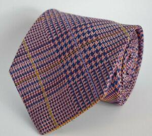 * Robert Talbott * Best of Class Multicolor Plaid Hand Sewn Finest Silk Necktie