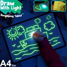 A4 Draw With Light Fun And Developing Toy Kid Drawing Board Magic Draw Education