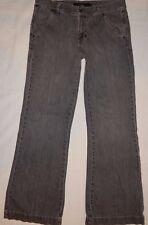 Calvin Klein Jeans 12 (33x32) Wide Trouser Flare Gray Colored Cotton Denim B7