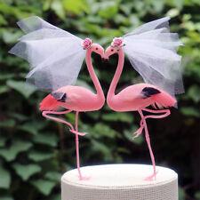 Pink Flamingo Wedding Cake Topper: Gay Bride & Bride Lesbian Cake Topper