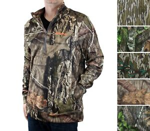 Nomad Men's Slaysman Pullover Hunting Jacket Fleece Lined Mossy Oak Polyester