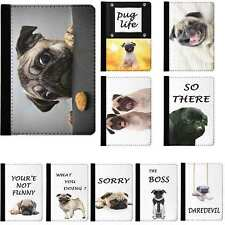 Cute Puppy Pug Dog Animal Rotating Case Cover for iPad 2 3 4 Air Mini Pro 9.7