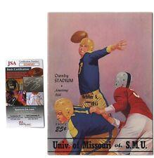 Matty Bell Signed Mizzou vs. SMU 1945 Football Program JSA