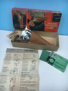 MATTEL FANNER 50 CAP GUN w/Swivel Shot Trick Holster MIB w/ INSTRUCTIONS & Caps