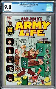 Sad Sack's Army Life Parade #52 CGC 9.8 (Jun 1974, Harvey) Giant-Size, White pgs