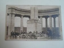 G34 Rare Old Postcard WWI 1914-1918 War Memoriam Leeds+Wreaths+Policeman In Cape