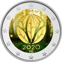 2 Euro Gedenkmünze Belgien 2020 coloriert / m Farbe Farbmünze Pflanzengesundheit