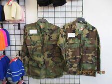 US Military BDU Shirt/Coat -SET OF 2-1 WINTER+1 SUMMER-Woodland Camo SMALL-LONG