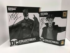 Batman Black & White Batman AND The Joker Statue By Gerard Way SIGNED Set of 2!