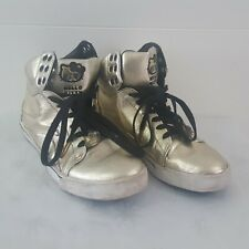 Hello Kitty Hi Top Gold Trainers Sneakers Shoes Uk Size 7.5 EU 40.5 by Pastry