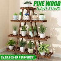 4 Tiers Wooden Plant Stand Indoor Flower Pot Holder Shelf Rack Holder Organizer