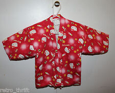 Sanrio Japan Hello Kitty Child Size 90 Hanten Red Japanese Winter Indoor Coat