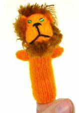 Early Years Imaginative Play LION Finger Puppet Hand Knitted LION Finger Puppet