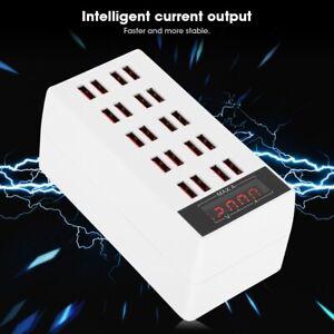 20 Multi-Port USB Desktop 100W Charger Fast Charging Station Hub Power Adapter