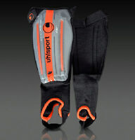 UHLSPORT TRISAFE SIZE XXS SHIN PADS/GUARDS ORANGE BLACK FOOTBALL BRAND NEW