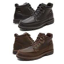 Rockport Mens Gentlemens Moc Toe Mid Hydro-Shield Lace Up Waterproof Boots  Shoes