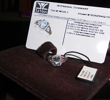 AUTH LEVIAN 14 KARAT GOLD VANILLA GOLD RING AQUAMARINE NEW WITH TAG/BOX $1330.00