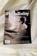 Piano Today Fall 1999 Magazine Back Issue Arthur Rubinstein