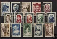 FRANCE STAMP ANNEE COMPLETE 1950 : 15 TIMBRES NEUFS xx TTB