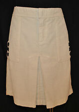 CHIC Citizens of Humanity Urban Cream Corduroy A Line Front Pockets Skirt Sz 28