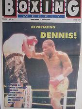 Boxing Weekly Magazine 14 Aug 1990 Andries Harding Collins Freddie Mills