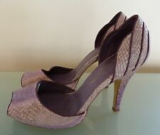 French Connection Ladies Shoes 4 37 Purple High Heels Office Work Party Blogger