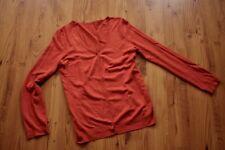 Promod Strickjacke Cardigan orange Feinstrick Vintage Hippie Lagenlook M 38