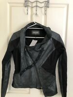 Cool! Preach Label Metallic leather Jacket, , Sz L ( M) BNWT, RRP$795