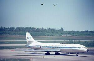Scandinavian Airlines SAS Sud-210 Caravelle SE-DAI 1970 - Original 35mm slide