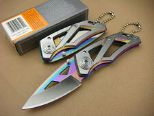 2018 Carbon Steel GB Knife Cute Tactical Pocket Saber Tool with key Chain Gift