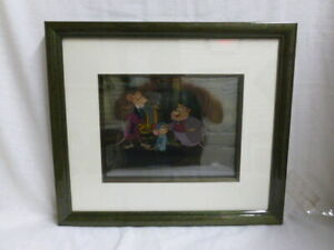 Walt Disney The Great Mouse Detective Original Production Cel Painting Framed