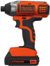BLACK DECKER Cordless Impact Driver 20 Volt MAX Lithium Ion Kit Battery Charger