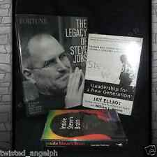 Set of 3 Books About Steve Jobs