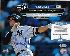 AARON JUDGE  NEW YORK YANKEES  BECKETT AUTHENTICATED  ACTION SIGNED 8x10