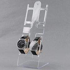 4 Slots Clear Jewelry Bracelet Wrist Watch Plastic Display Stand Rack Holder