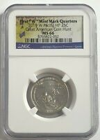 2019 W NGC MS66 GUAM QUARTER AMERICAN COIN HUNT WAR IN PACIFIC