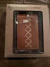 NEW Brown Leather  iPod case in box - Mint Condition