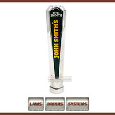 More details for john smith's branded beer tap handle - chrome, rounded top. free delivery.