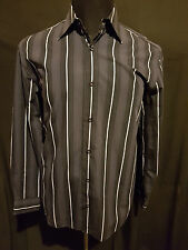MENS SHIRT YD LONG SLEEVED BUTTON UP 100% COTTON SIZE MEDIUM
