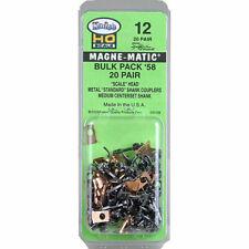 More details for no.58 scale bulk pack (19/64'') centreset (2pr) magne-matic kadee # 12
