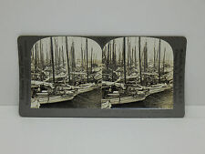 Keystone Stereoview #T221 Sponge Fleet, Nassau, Bahama Islands, Boats, 14499