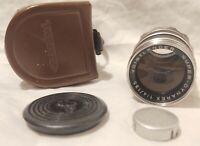 Voigtlander Super-Dynarex 1:4 / 135mm lens, Bessamatic, Leather case & Lens caps