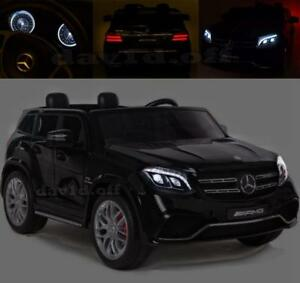 Two Seaters 24V Licensed 4WD Mercedes AMG GLS63 Battery Kid Ride On Car Remote